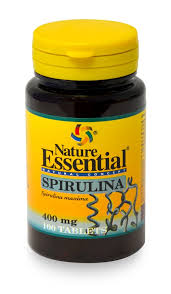SPIRULINA 400MG 100CAP  NATURE ESSESNTIAL