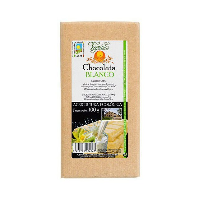 CHOCOLATE BLANCO BIO 100GR VEGETALIA
