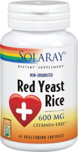 RED YEAST RICE 600MG 45CAP SOLARAY