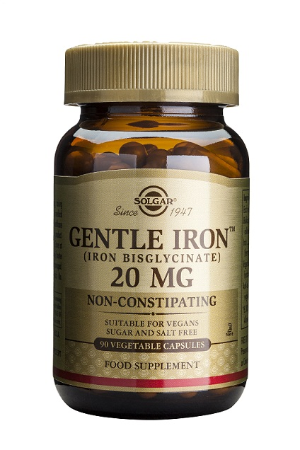 HIERRO GENTLE IRON 20MG 90CAP  SOLGAR