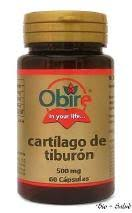 CARTILAGO TIBURON 500MG 60CAP OBIRE