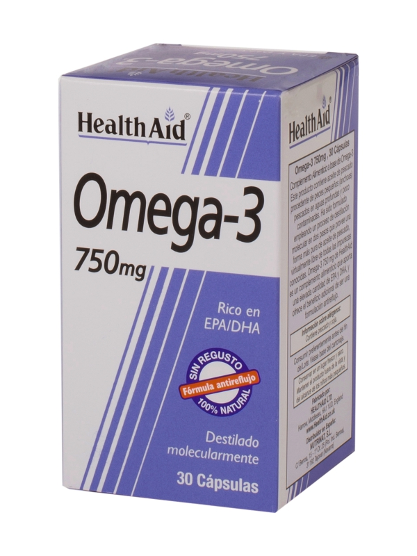 OMEGA 3 750MG 60CAP HEALTH AID