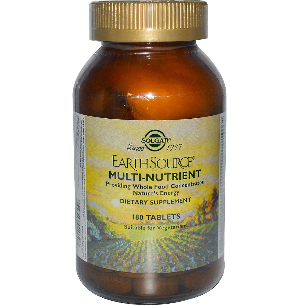 EARTH SOURCE BASE MULTI NUTRIENTES 180COM SOLGAR
