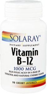 VITAMINA B 12 ACIDO FOLICO 1000MG 90CAP SOLARAY