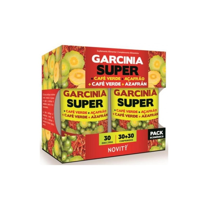 GARCINIA SUPER+CAFE VERDE+AZAFRAN PACK 30+30COMP NOVITY