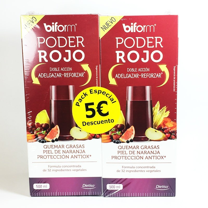 PODER ROJO 500ML  PACKS 2UNID BIFORM DIETISA