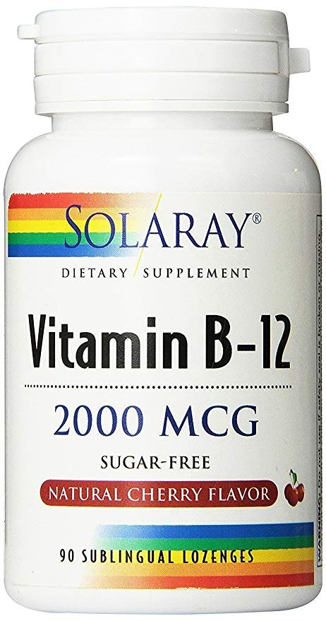 VITAMINA B12 2000MCG 90CAP SUBLINGUAL SOLARAY