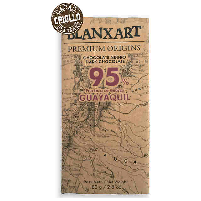 CHOCOLATE 95% GUAYAQUIL 80GR BLANXART