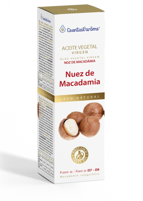 ACEITE VEGETAL NUEZ MACADAMIA 100ML ESENTIAL AROMS INTERSA